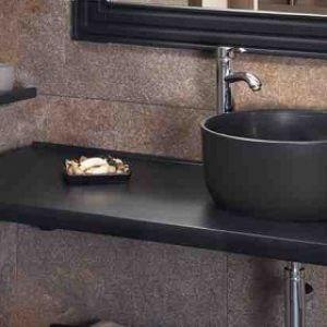 Επιτραπέζιος Νιπτήρας Μπάνιου Στρογγυλός Cupa 40M Μαύρος